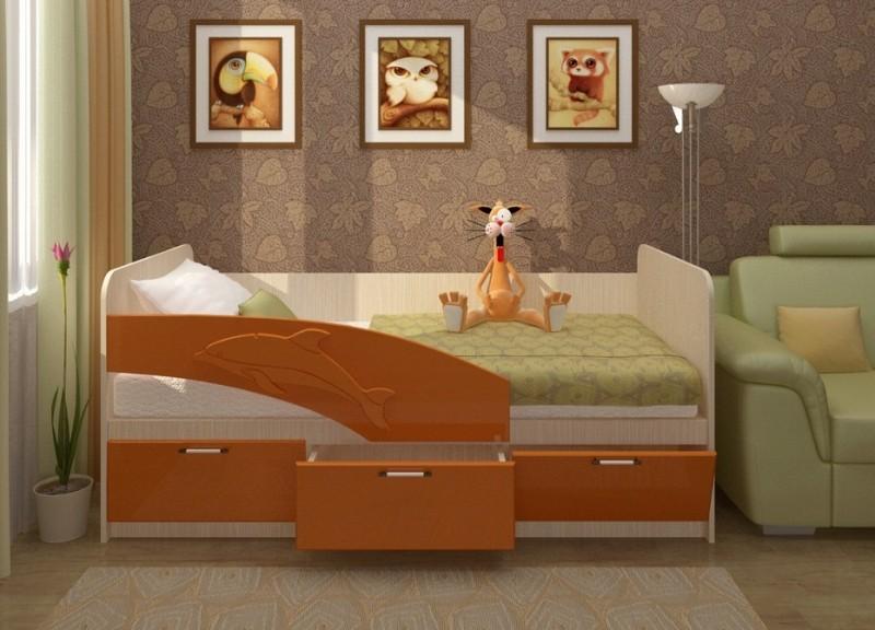 """Детская кровать """"Дельфин"""" 1.6 метра."""
