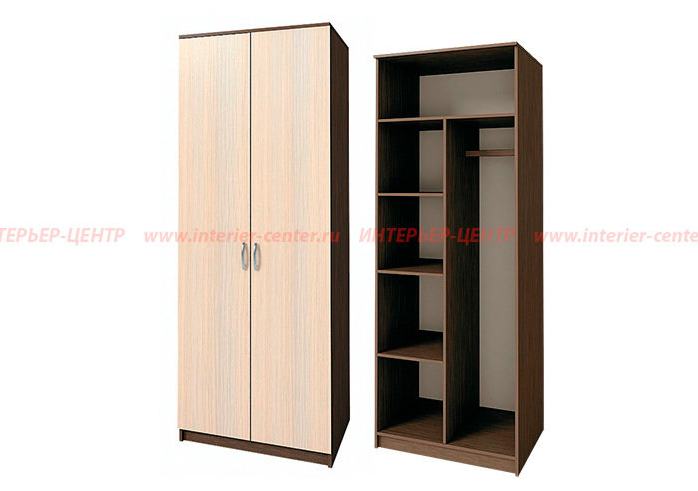 Шкаф 2-створчатый комбинированный