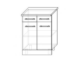 ШН2Я - 600 мм. Шкаф нижний с двумя ящиками