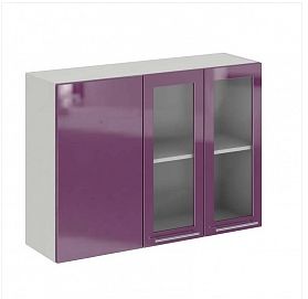 София ШВУПС 1000 Шкаф верхний угловой прямой с одной дверцей со стеклом