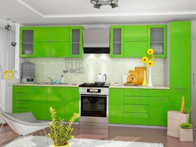 Кухня София (фасад олива) модульная
