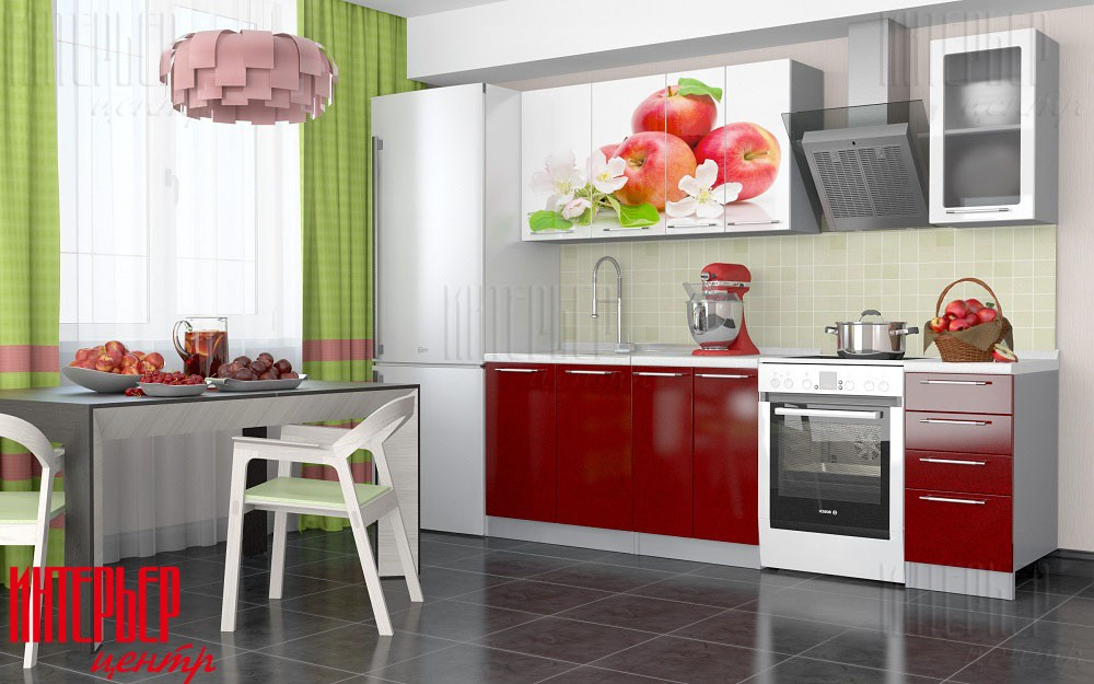 Кухонный гарнитур Олива 1,8 Фотопечать