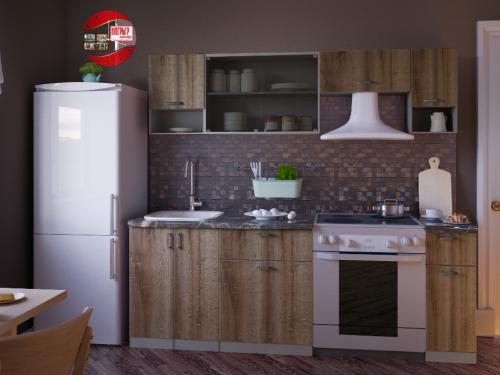 Кухонный гарнитур Зара - 2.1м Дуб Сакраменто
