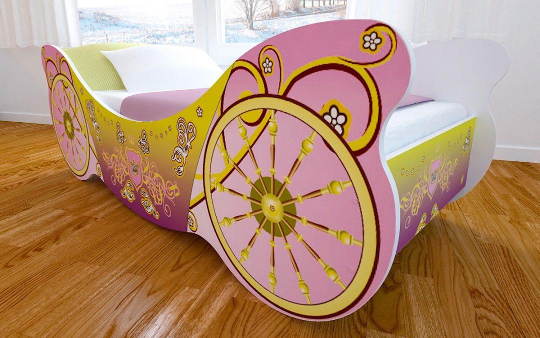 Детская кровать с фотопечатью Карета