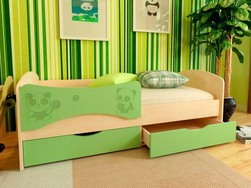 Детская кровать с фотопечатью Панды