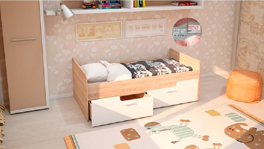 Детская кровать - Умка белый глянец