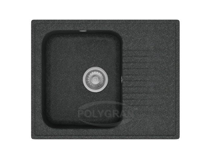 Мойка из искусственного камня POLYGRAN F-07 Черный