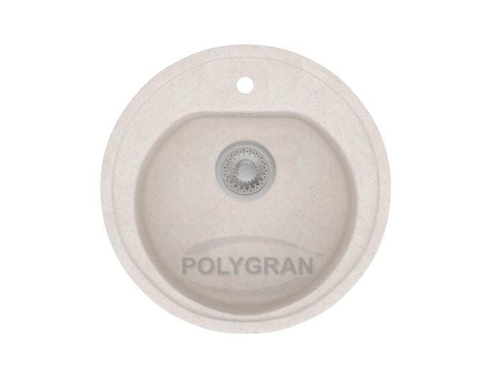 Мойка из исскуственного камня POLYGRAN F-08 белый