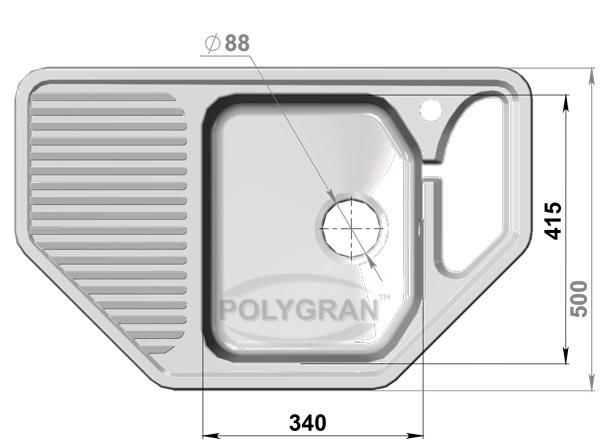 Мойка из исскуственного камня POLYGRAN F - 10