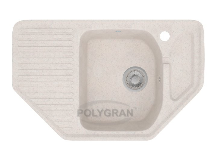 Мойка из исскуственного камня POLYGRAN F - 10 белый