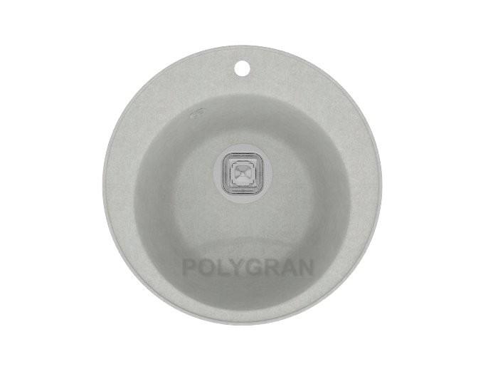 Мойка из кварца TOLERO R - 108 серый-металлик