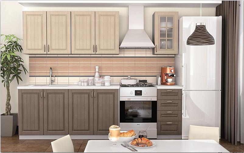 Кухонный гарнитур - Лондон 2.0 Дуб крем графит