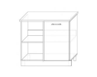 ШНУП-1000 - Шкаф нижний угловой