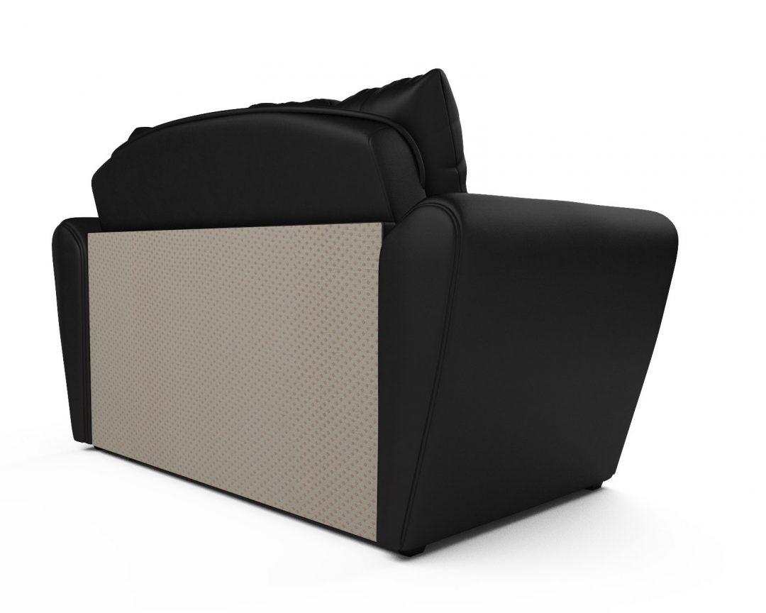 Выкатной диван Квартет экокожа черная