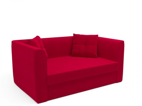 Напольный диван Ассоль красный
