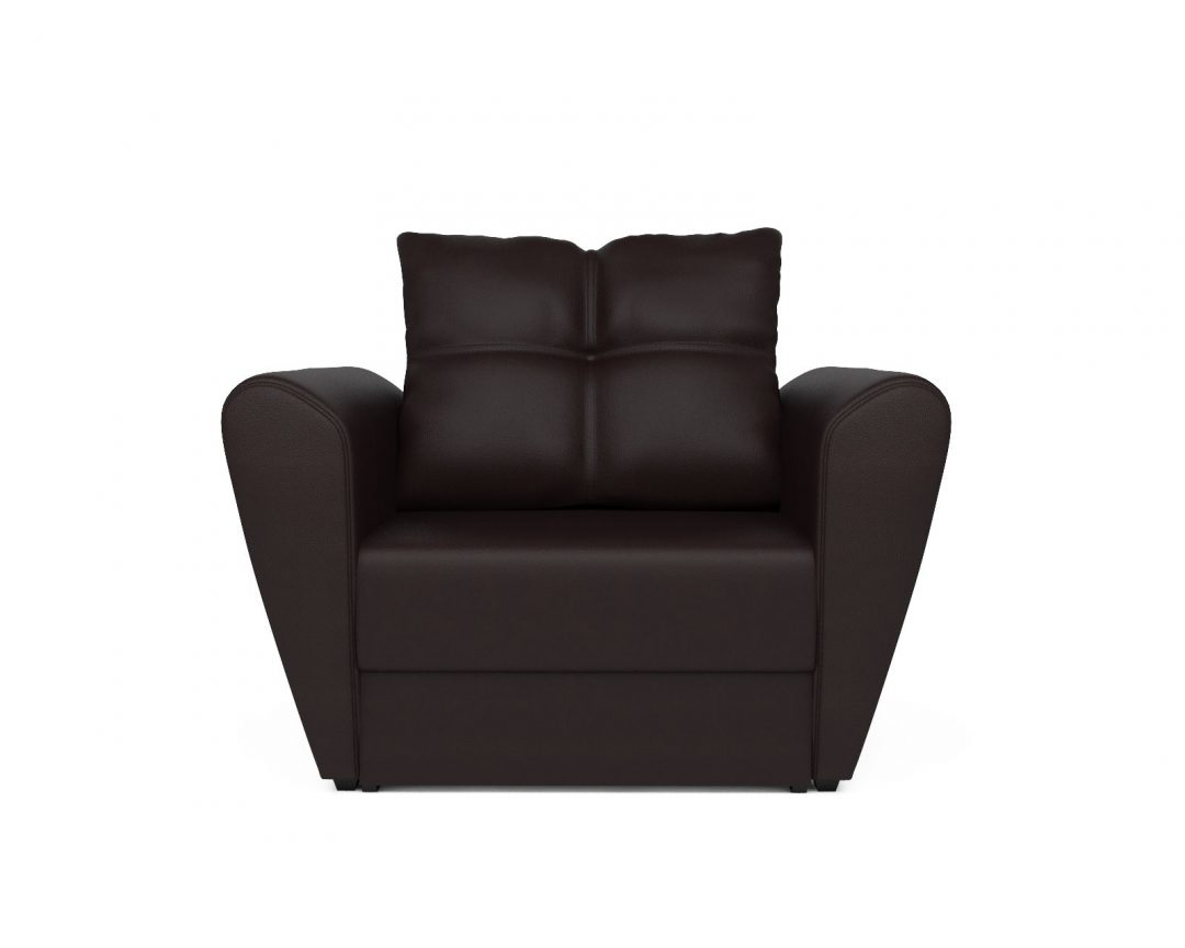 Кресло-кровать Квартет - экокожа шоколад