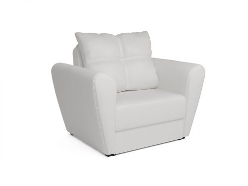 Кресло-кровать Квартет -экокожа белая