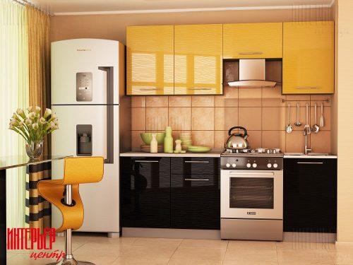 Кухонный гарнитур Дюна - Желтая 2.1