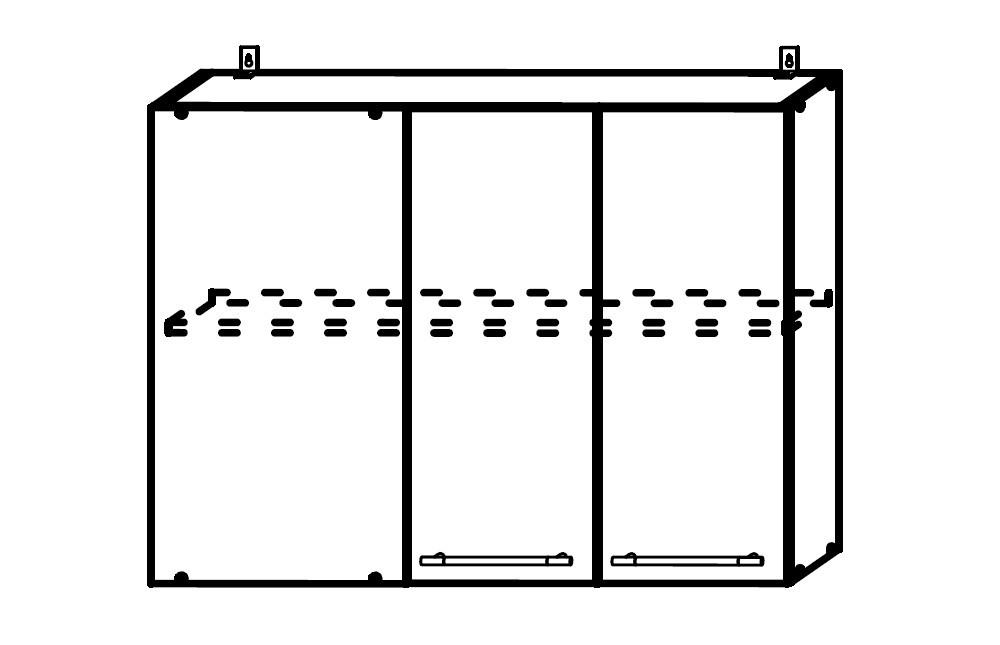 София ШВУП 1000 Шкаф верхний угловой прямой с одной дверцей