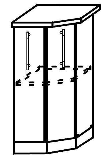 София ШНТ 400 Шкаф нижний торцевой с одной дверцей(правый)
