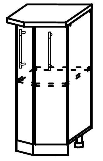 София ШНТ 400 Шкаф нижний торцевой с одной дверцей(левый)