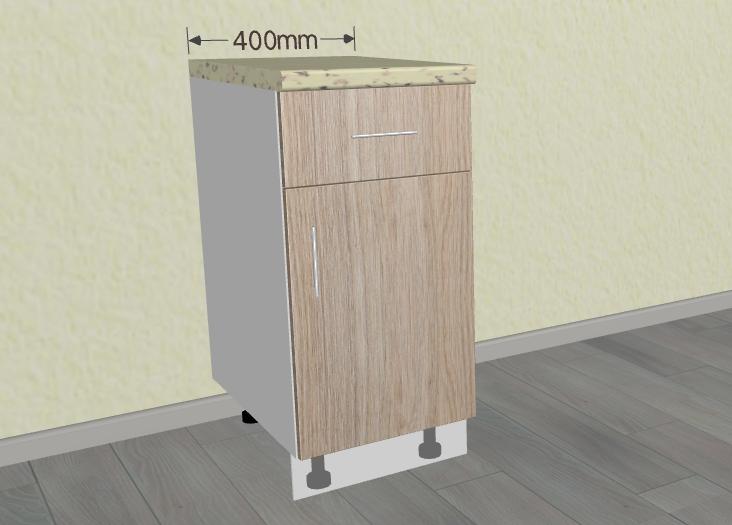 ШН1Я- 400 мм. Шкаф нижний с ящиком