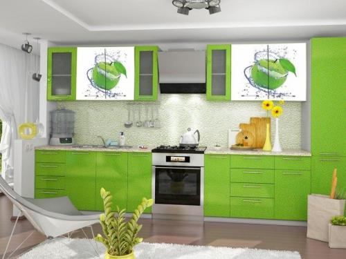 Кухонный гарнитур Яблоки- 3м. Модульная