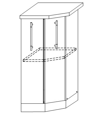 ШНТ-360 - Шкаф нижний торцевой правый