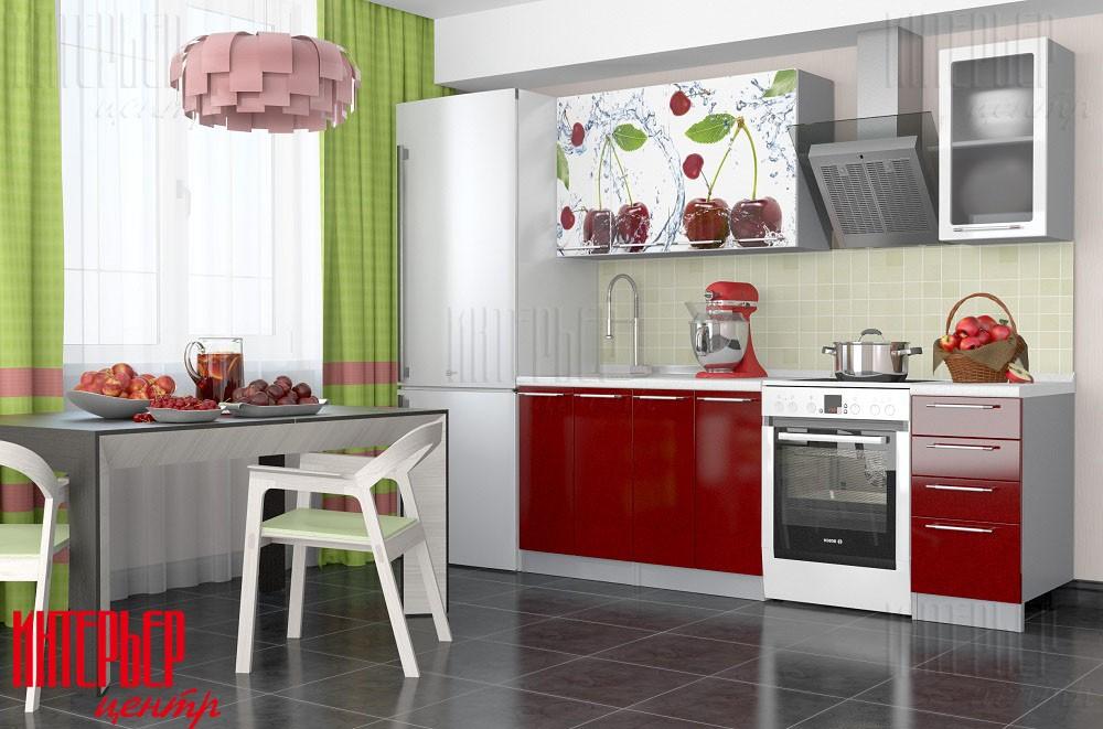 Кухонный гарнитур Олива 1,6 Фотопечать