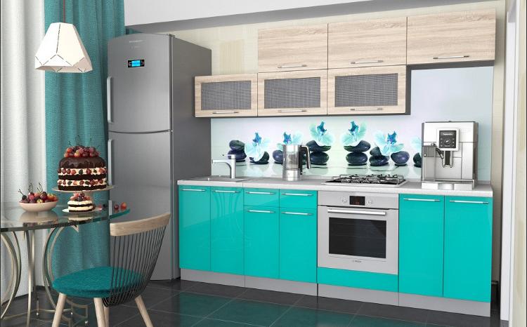 Кухонный гарнитур - Микс (дуб сономабирюза)