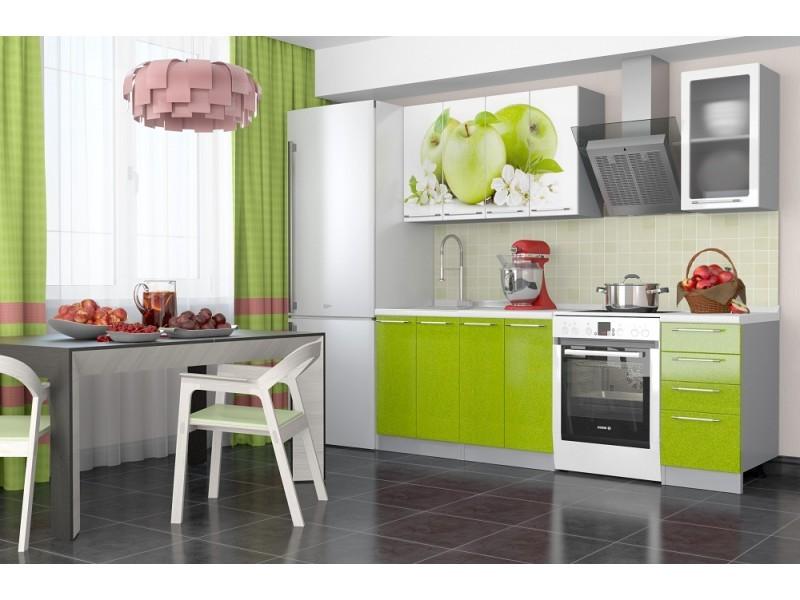 Кухонный гарнитур София - 1,6 м (Зеленое яблоко)