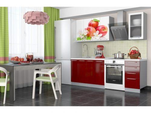 Кухонный гарнитур София - 1,6 м (Красное яблоко)