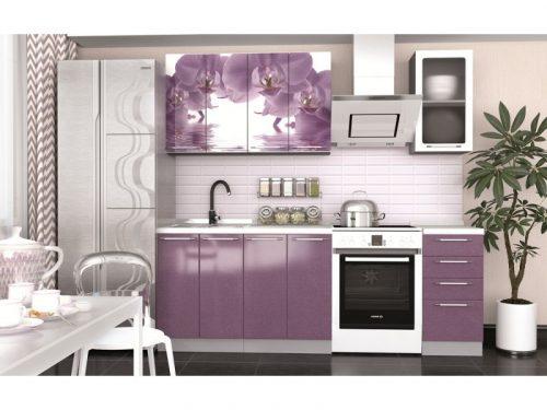Кухонный гарнитур София - 1,6 м (Орхидея)