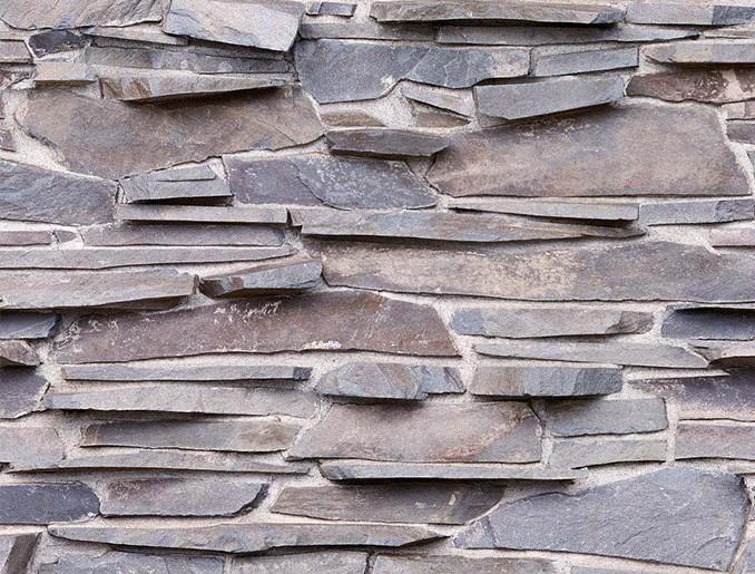 Стеновая панель (Скинали) для кухни - Серый кирпич
