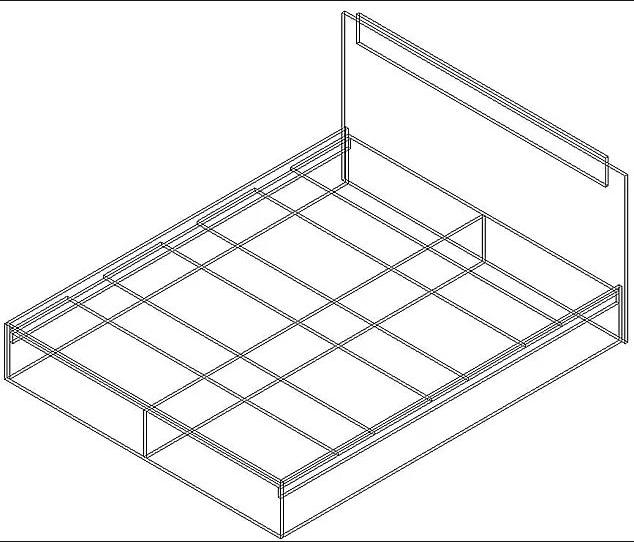 Кровать 1400 х 2000 венге - дуб молочный