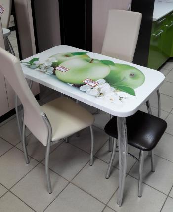 Кухонный стол с фотопечатью - Орхидея