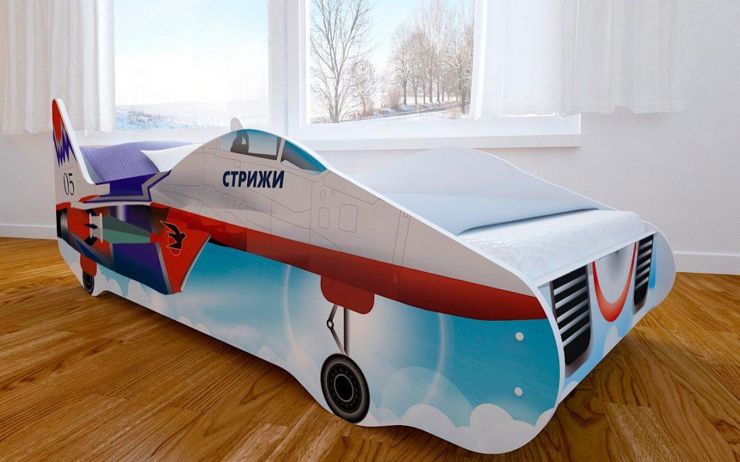 Детская кровать с фотопечатью Истребитель