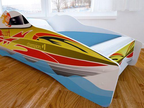 Детская кровать с фотопечатью Катер