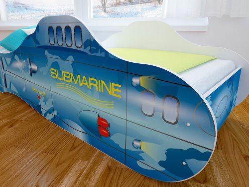 Детская кровать с фотопечатью Подводная Лодка