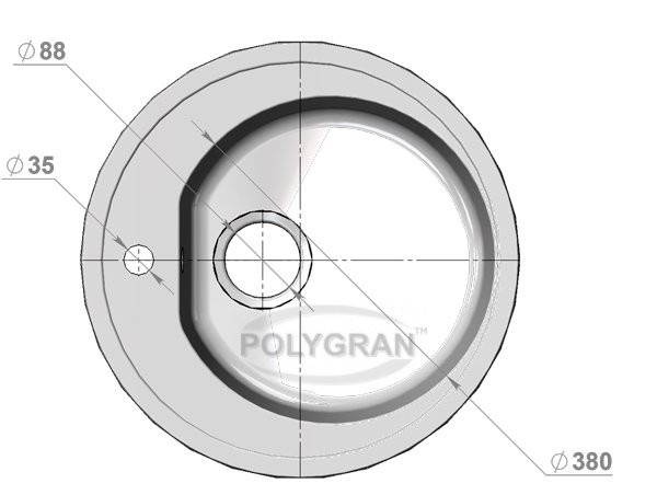 Мойка из исскуственного камня POLYGRAN F-08