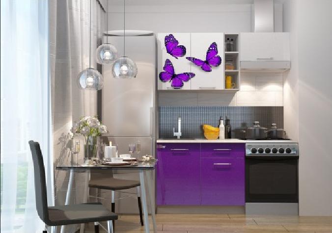 Кухня фото Бабочки - 1.6м. Модульная