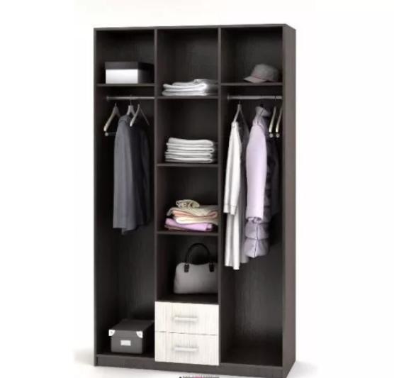 Шкаф 3-створчатый с ящиками Трио