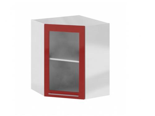 Олива ШВУС-550 мм. Шкаф верхний угловой стеклом