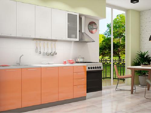 Кухонный гарнитур - белый оранж