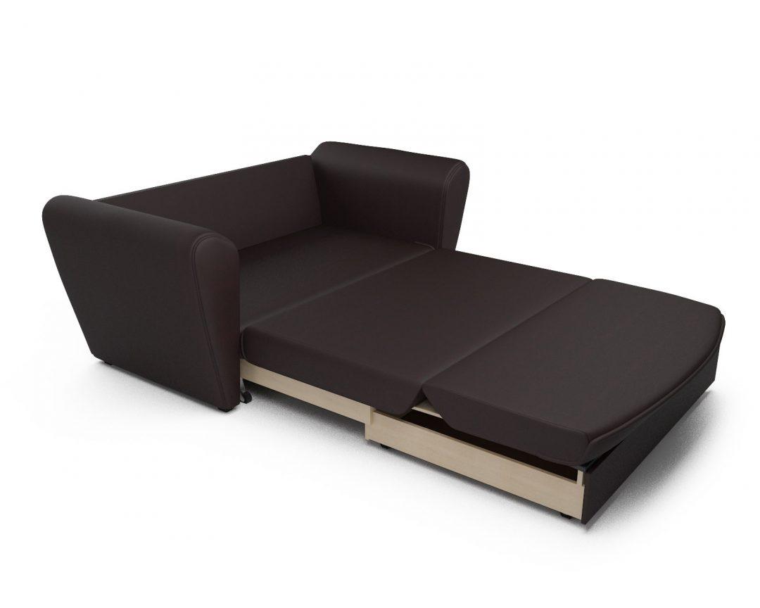 Выкатной диван экокожа шоколад