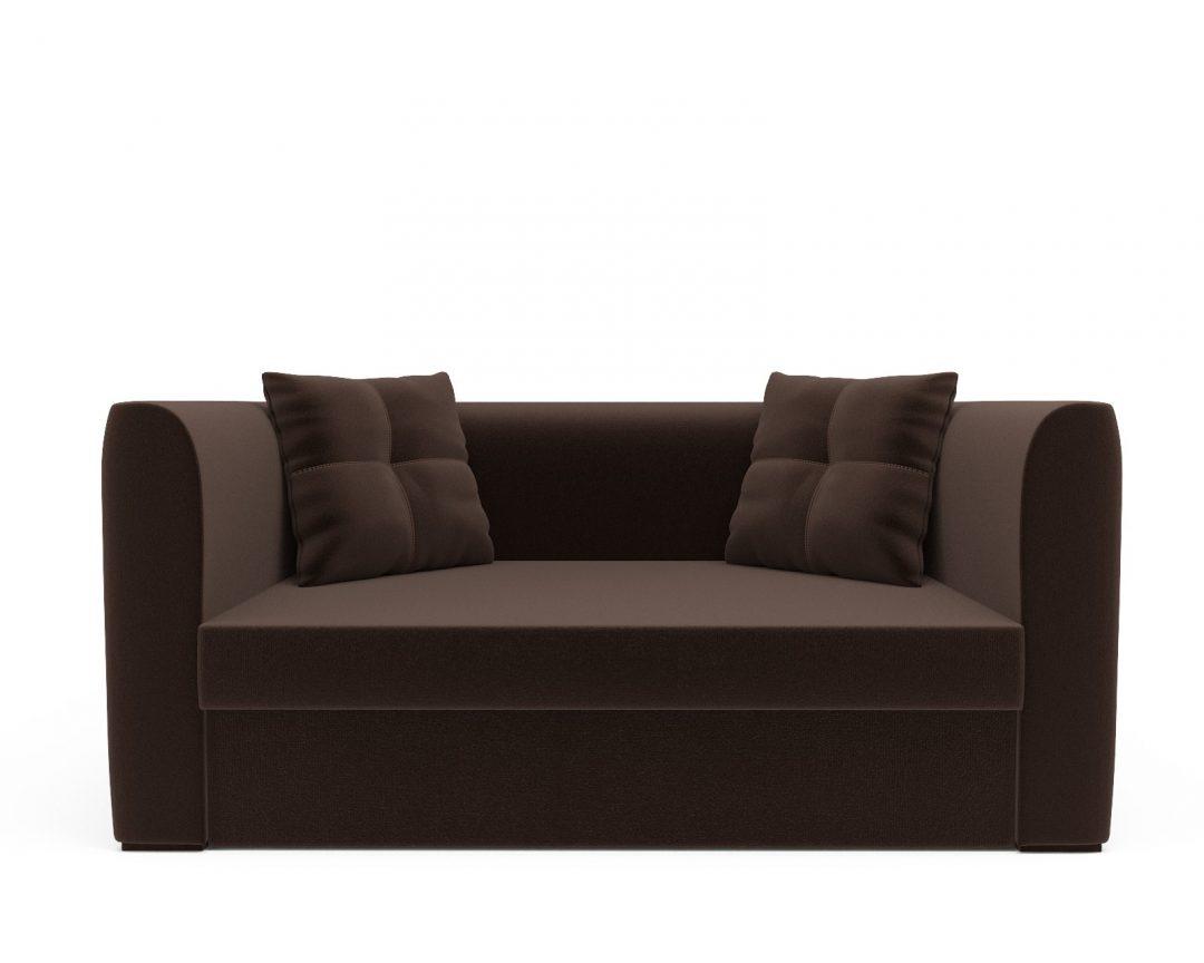 Напольный диван Ассоль кордрой коричневый