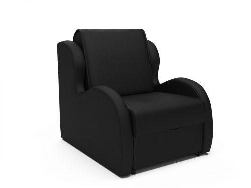 Кресло-кровать Атлант - черный кожзам