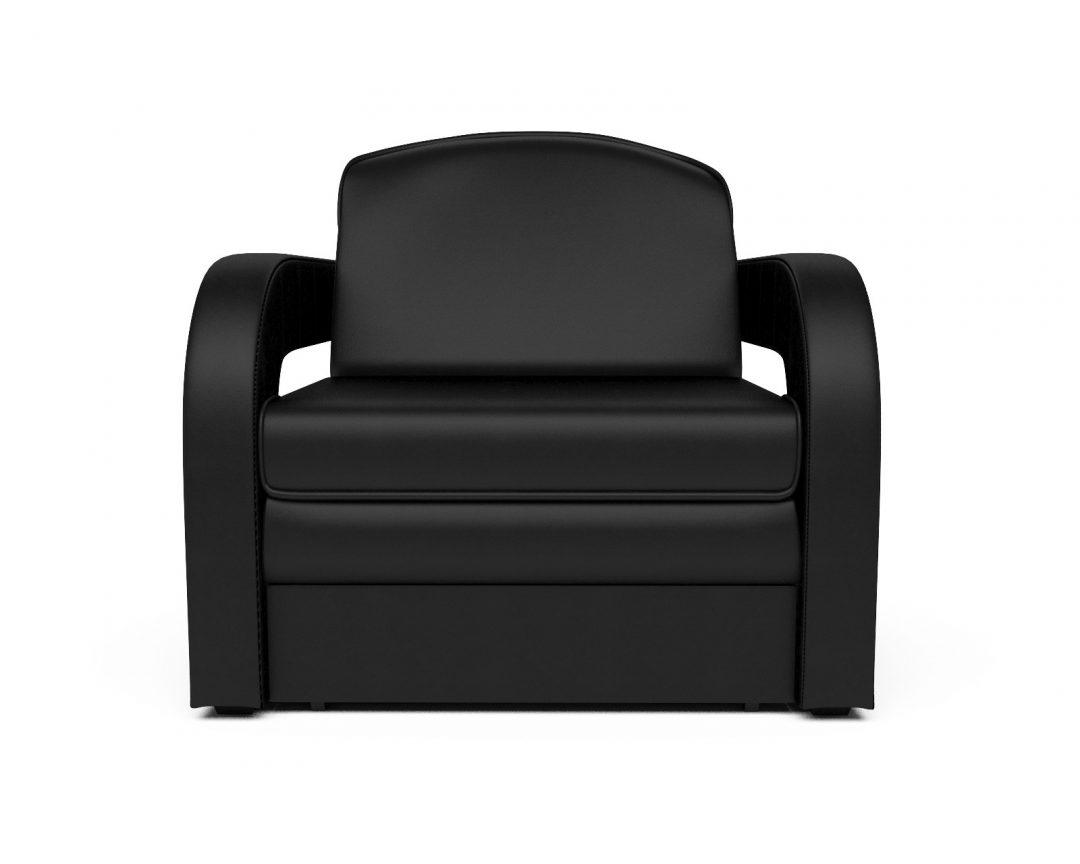 Кресло-кровать Кармен-2 (черный кожзам)