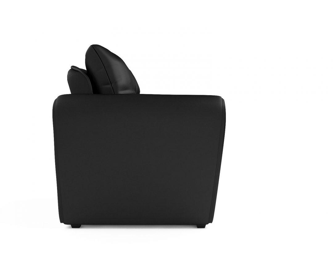 Кресло-кровать Квартет - экокожа черная