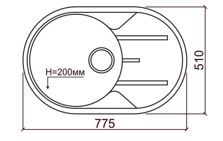 Мойка из кварца TOLERO R — 116